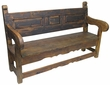 Rustic Old Door Mexican Colonial Bench