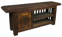 Rustic Old Door TV Entertainment Console