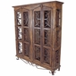 Rustic Old Wood and Iron Display Cabinet