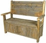 Rustic Old Wood Storage Bench
