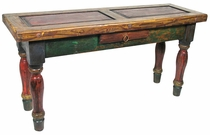 Rustic Paint Sofa Table with Drawer