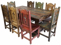 Painted Country Style Mexican Dining Furniture