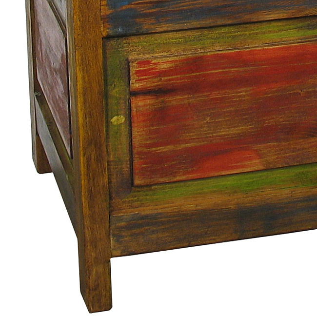 Astounding Rustic Painted Wood Storage Bench Gmtry Best Dining Table And Chair Ideas Images Gmtryco