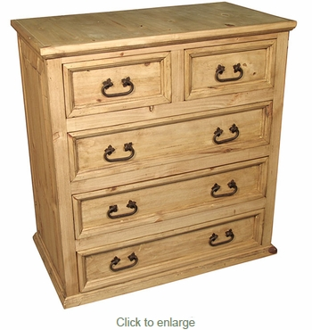 rustic pine 5 drawer dresser mexican bedroom furniture 17023 | rustic pine 5 drawer dresser 4