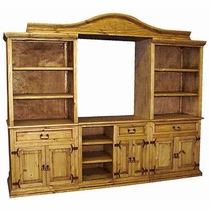 Rustic Pine Entertainment Center - 4 Piece or 3 Piece