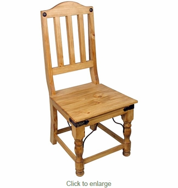Indian Mexican Dining Chair - Rustic Pine