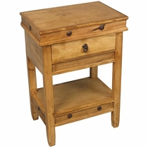 Rustic Pine Side Table 1 Drawer