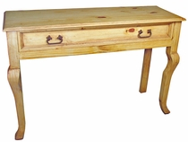 Rustic Pine Sofa Table with Drawer