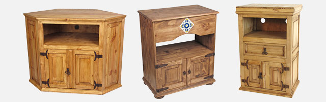Mexican Rustic Pine Tv Stands Shipping Included