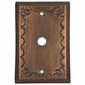 Rustic Tin Cable Plate - Star Design