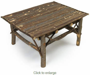 Rustic Twig Coffee Table - With Bark