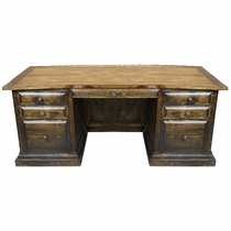 Rustic Wood El Patron Office Desk
