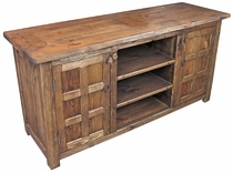 Rustic Wood Flat Screen TV Console