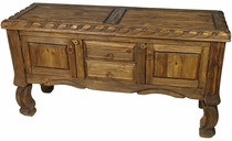 Rustic Wood Raised Grain Buffet