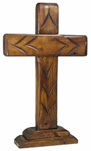 Rustic Wood Standing Cross