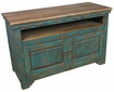 Rustic Wood Turquoise TV Console