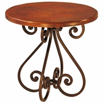 S Bistro or Dining Table with Copper Top