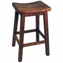 Saddle Seat Mesquite Bar Stool