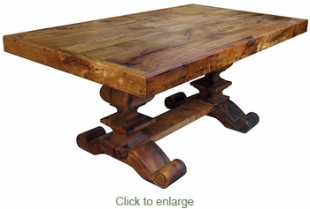 Scroll Foot Mesquite Dining Table