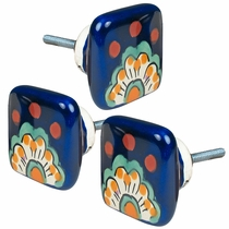 Set of 3 Talavera Square Drawer Pulls