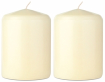 "2.75"" X 4"" - Unscented Classic Pillar Candles - Set of 2"