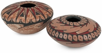 Short Mata Ortiz Pottery Vases - Set of 2