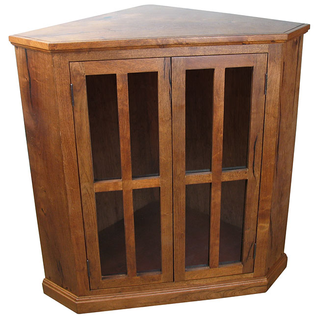 sc 1 st  Direct From Mexico & Short Mesquite Corner Cabinet with Glass Doors
