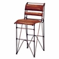 Sidro Leather and Iron Bar Stool