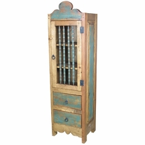 Skinny Santa Fe Style Armoire - Painted Wood