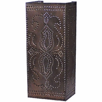Slender Perforated Mexican Tin Wall Sconce