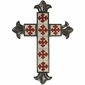 Small Aged Tin and Tile Hanging Cross