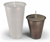 Small Aged Tin Inserts for Sugar Mold Candle Holders