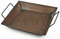 Small Aged Tin Vanity Tray - Set of Two