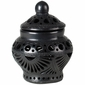 Small Black Clay Etched Oaxacan Urn