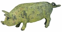 Small Bronze Pig Figurine