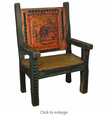Small Carved Captains Chair