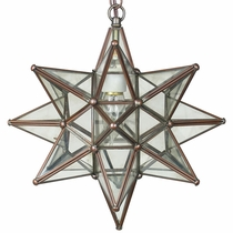 Small Copper Star Light Fixture