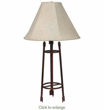 Small Iron Arrow Table Lamp