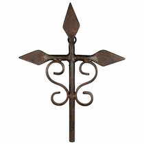 Small Rustic Iron Spade Cross