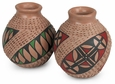Small Mata Ortiz Textured Pots - Set of 2
