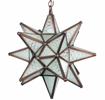 Small maya frosted glass star pendant lamp aloadofball Image collections