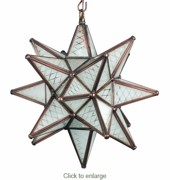 Small Maya Frosted Glass Star Pendant Lamp