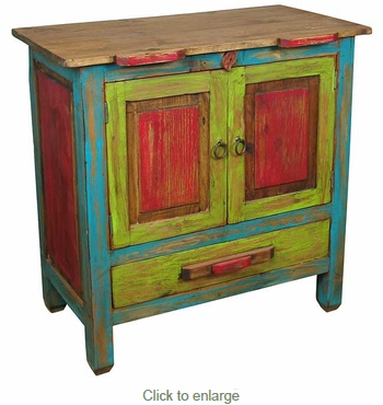 Small Multi-Colored Rustic Buffet