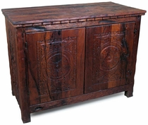 Small Old World Carved Mesquite Buffet