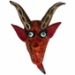 Small Painted Clay Horned Devil Mask