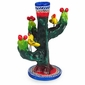 Small Painted Clay Saguaro Candlesticks - Set of 2