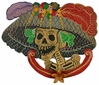 Small Painted Tin Catrina Day of the Dead Wall Plaque