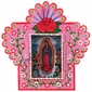 Small Painted Tin Nicho with Virgin of Guadalupe Print