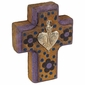 Small Painted Wood Mexican Milagro Crosses - Set of 2