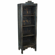 Small Painted Wood Santa Fe Bookcase - Dark